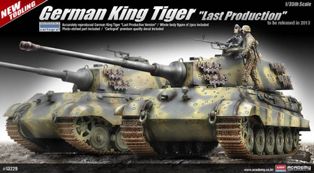 RC Radiostyrt Byggsats Stridsvagn - King Tiger Last production - 1:35 - Academy