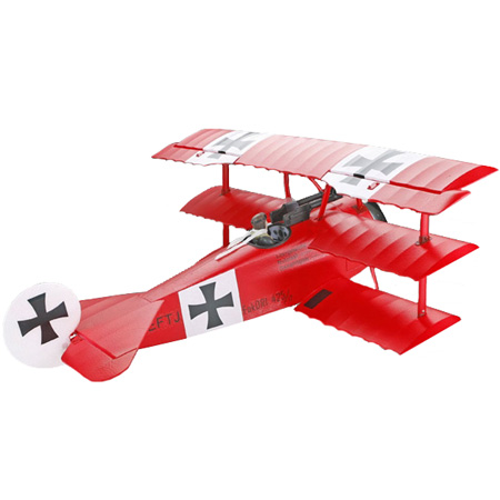 Flygplan - ArtTech Fokker Dr.1 BL 2,4GHz - Borstl&ouml;st paket - RTF