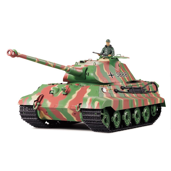 Radiostyrd stridsvagn - 1:16 - King Tiger BATTLE + Flash - METALL - rök & ljud - RTR