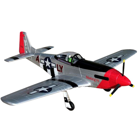 Flygplan - P51D Mustang BL - 1,4m - 2,4Ghz - EPO - 4ch - RTF