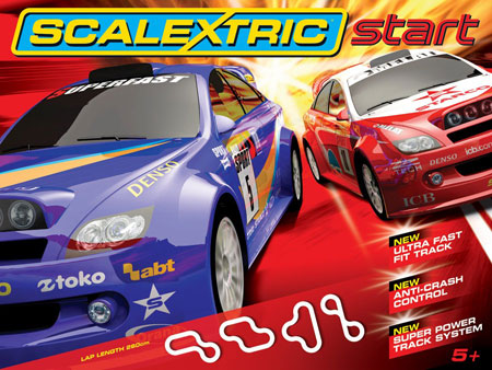 Scalextric bilbana - START World Rally - 1:32 - Inkl. Bilar
