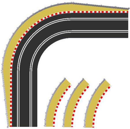 Scalextric bilbana - Track Extension Pack A