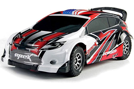 Radiostyrd bil - Vortex 4WD Touring car - Red - 2,4Ghz - 1:18 - RTR