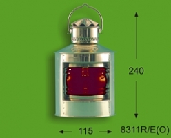 Sidelight 4'' red - solid brass/oil 8311R/O
