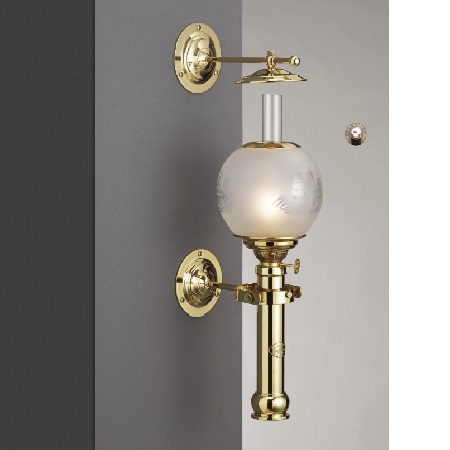 Captains cabin lamp brass (mässing)+ ship globe 500304