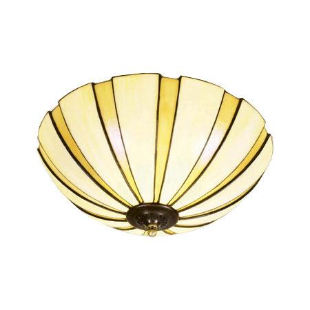 Coupe amber plafond Tiffany handgjord.  P82-45