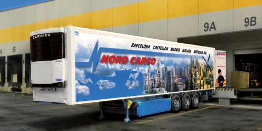 Byggmodell trailer - Reefer Trailer - 1:24 - IT
