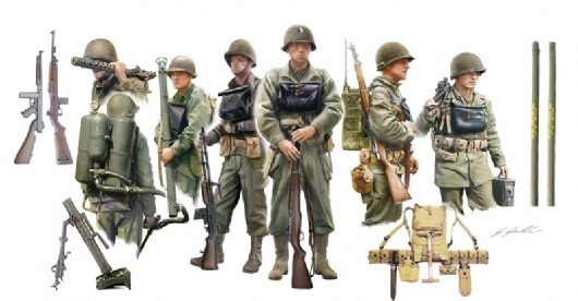 RC Radiostyrt Byggmodell gubbar - US INFANTRY ON BOARD (10 FIG.) 1:35 IT
