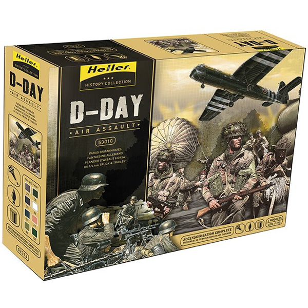 RC Radiostyrt D-Day Airassault (4 models in 1 incl. glue,paint,brush) - 1:72 - He