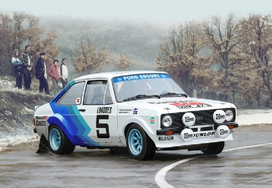 RC Radiostyrt Byggmodell bil - Ford Escort Mk.II - decal Hannu Mikkola and Arne Hertz - 1:24 - IT