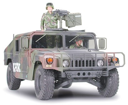 RC Radiostyrt Stridsfordon byggmodell - Humvee armament carrier - 1:35 - Tamyia