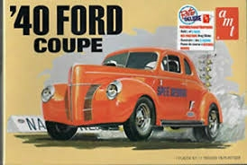 RC Radiostyrt Byggmodell bil - 1940 Ford Coupe 2T - 1:25 - AMT