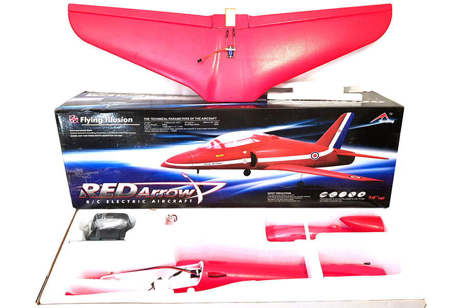 RC Radiostyrt Demo - Flygplan - Red Arrow BL - 4ch - Borstlöst paket