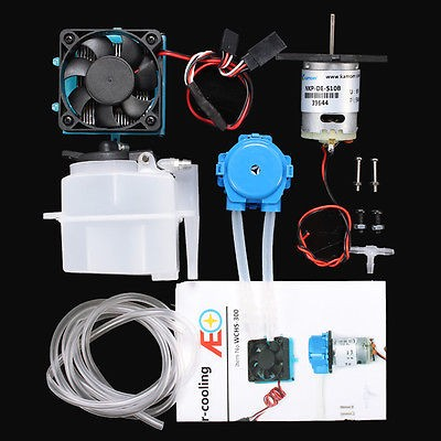 Water cooling system (Heat sink, pump, tank, fan, pipes, screws)