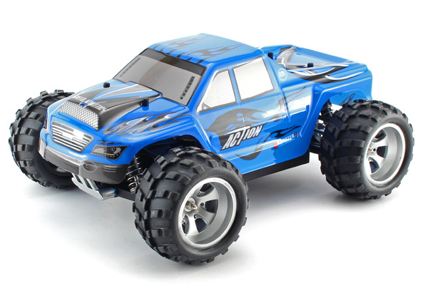 Radiostyrd bil - 1:18 - Monster Action 4wd - 2,4Ghz - RTR