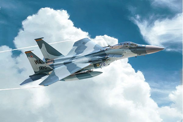 RC Radiostyrt Byggmodell flygplan - F-15C Eagle - 1:72 - IT