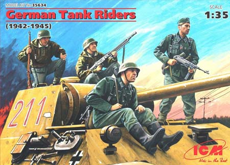Byggmodell - German Tank Riders 1942-1945 - 4 fig. - 1:35 - ICM