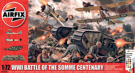 Byggmodell diorama - Battle Of The Somme - Gift Set - 1:72 - Airfix