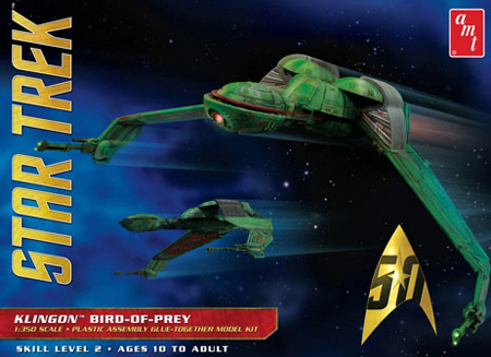 RC Radiostyrt Byggmodell - Star Trek - Klingon Bird of Prey - 1:350 - AMT