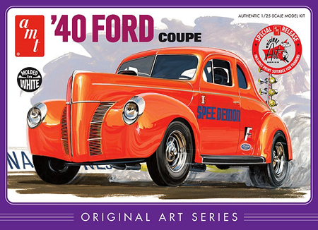 RC Radiostyrt Byggmodell bil - 1940 Ford Coupe Original - 1:25 - AMT