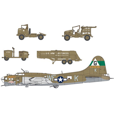 Byggmodel set - Eighth Air Force Resupply Set - 1:72 - AirFix