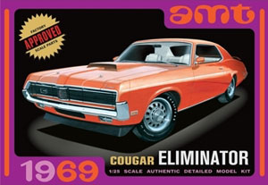 RC Radiostyrt Byggmodell bil - 1969 Mercury Cougar, Orange - 1:25 - Amt
