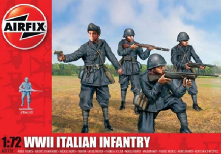 Byggmodell gubbe - Italian Infantry - 1:72 - Airfix