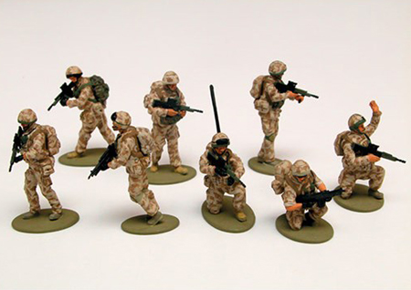 Byggmodell gubbe - Modern British Army Troops - 1:48