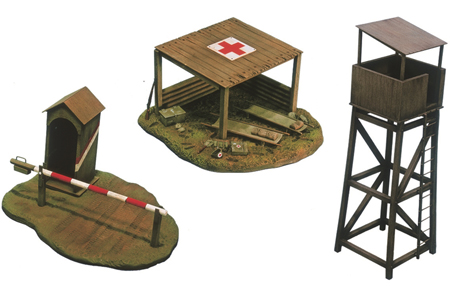 RC Radiostyrt Byggmodell - Battlefield buildings - 1:72 - IT