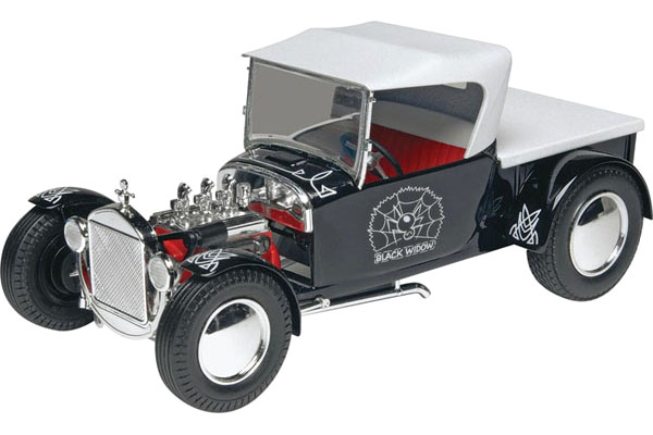 RC Radiostyrt Byggmodell bil - Black Widow Hot Rod - 1:24 - Mg