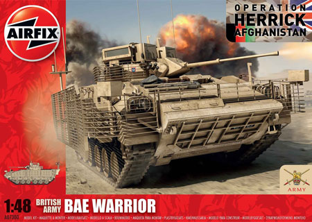 Byggmodell Stridsvagn - BAE Warrior - British Forces - 1:48