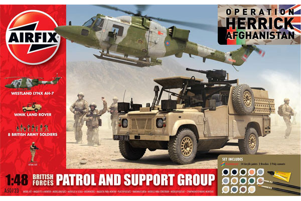 RC Radiostyrt Byggmodell - British Forces, Patrol and Support group - 1:48