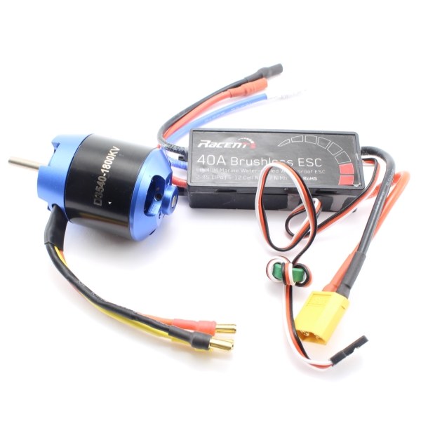 Brushless combo - 40A, Vattenkyld - Vol
