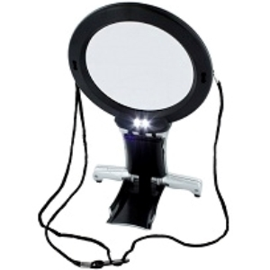 RC Radiostyrt Byggmodell verktyg - Dual purpose neck and desk magnifier with LED light - dual magnification PROMO