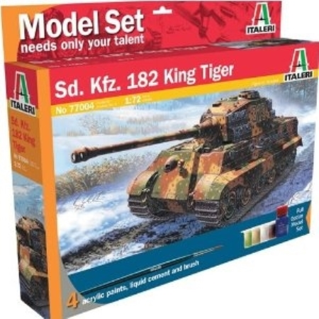 Byggsats Stridsvagn - SD. KFZ. 182 King Tiger - 1:72 - Set