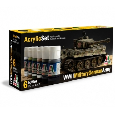 Färg - Acrylic Set (6 pcs.) WWll Military German Army - Italeri