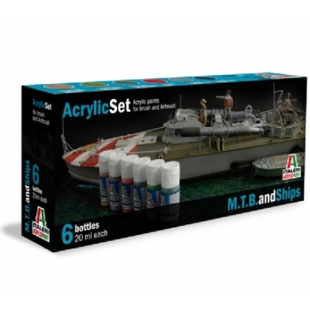 Färg - Acrylic Set (6pcs) M..T.B. and Ships - Italeri