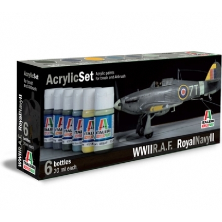 Färg - Acrylic Set (6pcs) R.A.F./Royal Navy II - Italeri