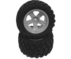 HBX Stealth - Off road Tire Black Rim 2-pack, Glued