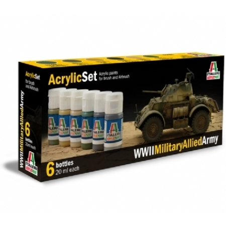Färg - Acrylic Set (6 pc) WWll Military Allied Army  - Italeri
