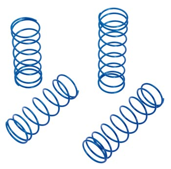 RC Radiostyrt 122517 - Shock Spring Set blue/hard - S10 BX/TX/MT - 4 pack