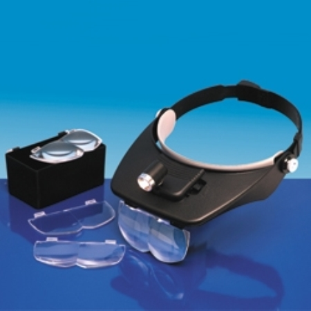 Byggmodell verktyg - VERSITILE HEADBAND MAGNIFIER (4 lenses and light) - ModelCraft