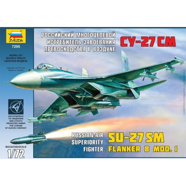 Modellflygplan - Russian Fighter Sukhoi SU-27SM - 1:72