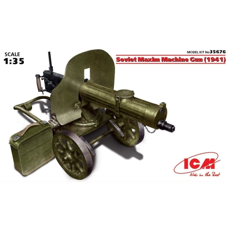 stridsfordon - Russian Maxim Machine Gun 1941 - 1:35
