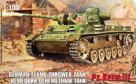 Byggmodell Stridsfordon - Panzer III Flamethrower tank - snap - 1:100 - Zvezda
